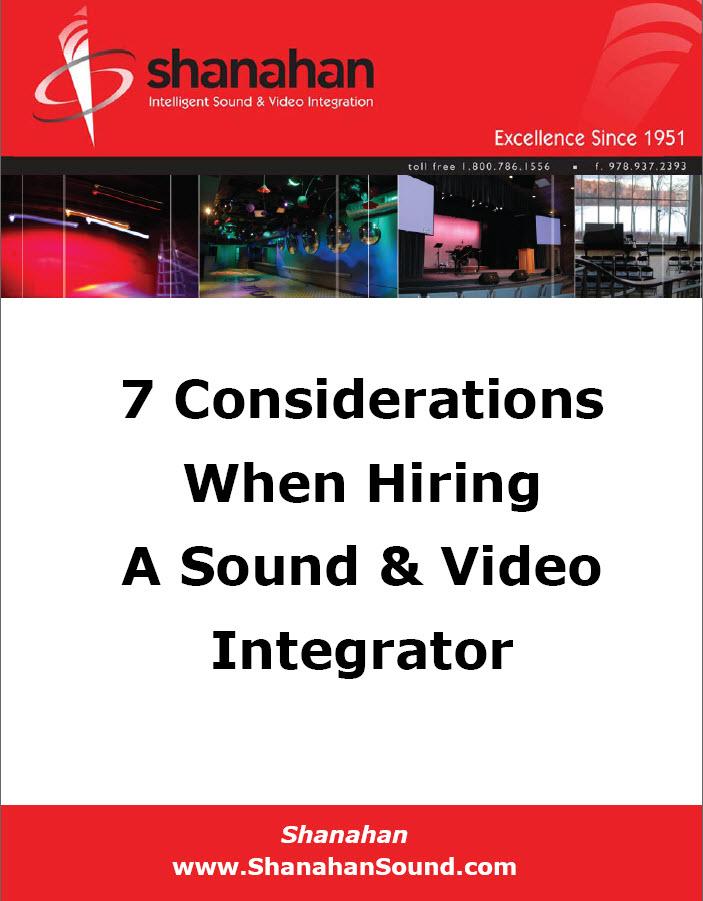 Hiring a Sound & Video Integrator White Paper