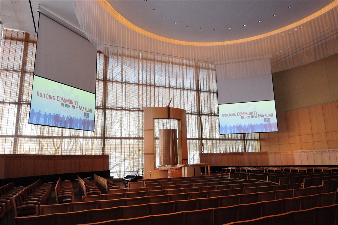 New Temple Sanctuary with Projection Screens